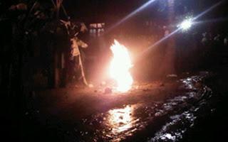 Heboh ! Muncul Semburan Air Berlumpur Menyala Di Purworejo