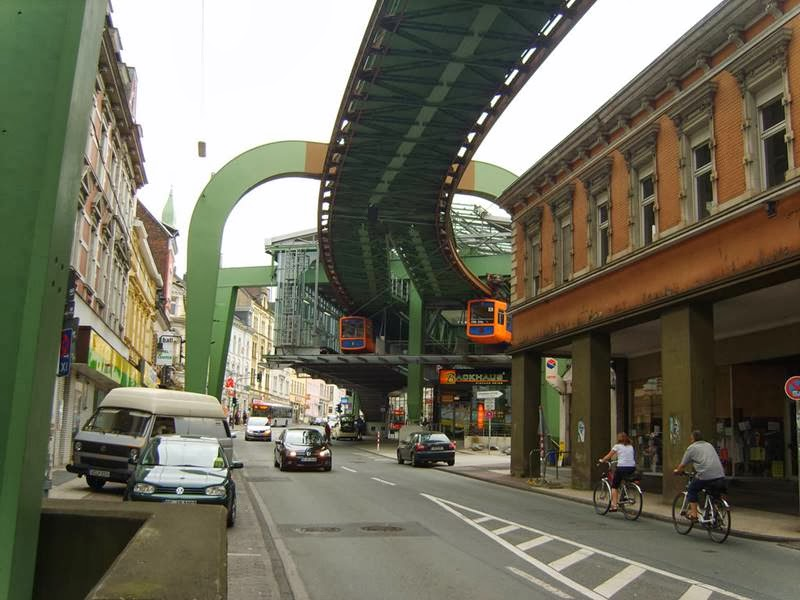 "The Schwebebahn Wuppertal, literally translated as the ""Floating Railway of Wuppertal."
