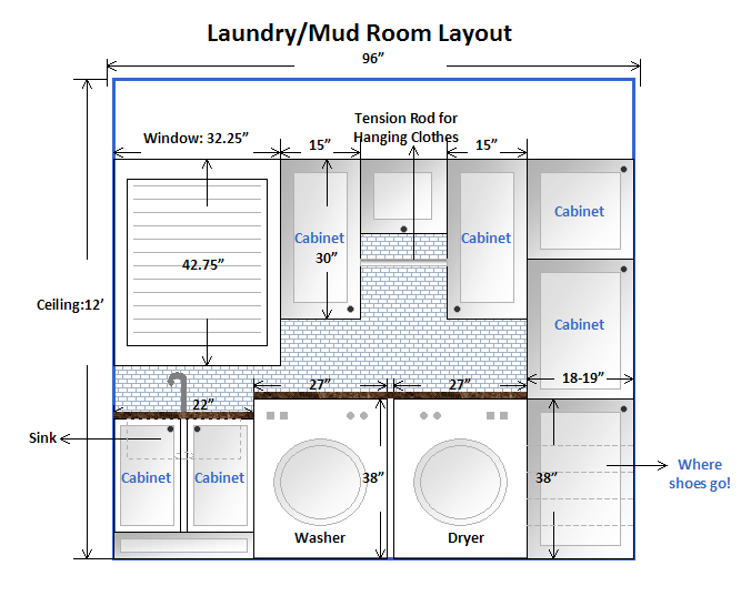 Am dolce vita laundry mud room makeover taking the plunge for Laundry bathroom floor plans