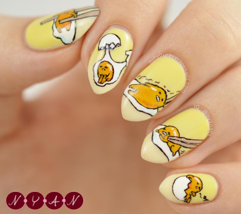 Gudetama Nail Art