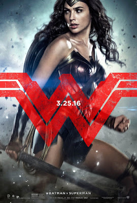 "Batman v Superman Dawn of Justice ""Trinity"" Teaser Character Movie Poster Set - Gal Gadot as Wonder Woman"