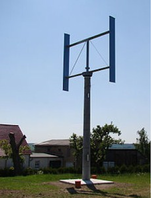 here is a picture of a five killowatt vertical axis wind turbine