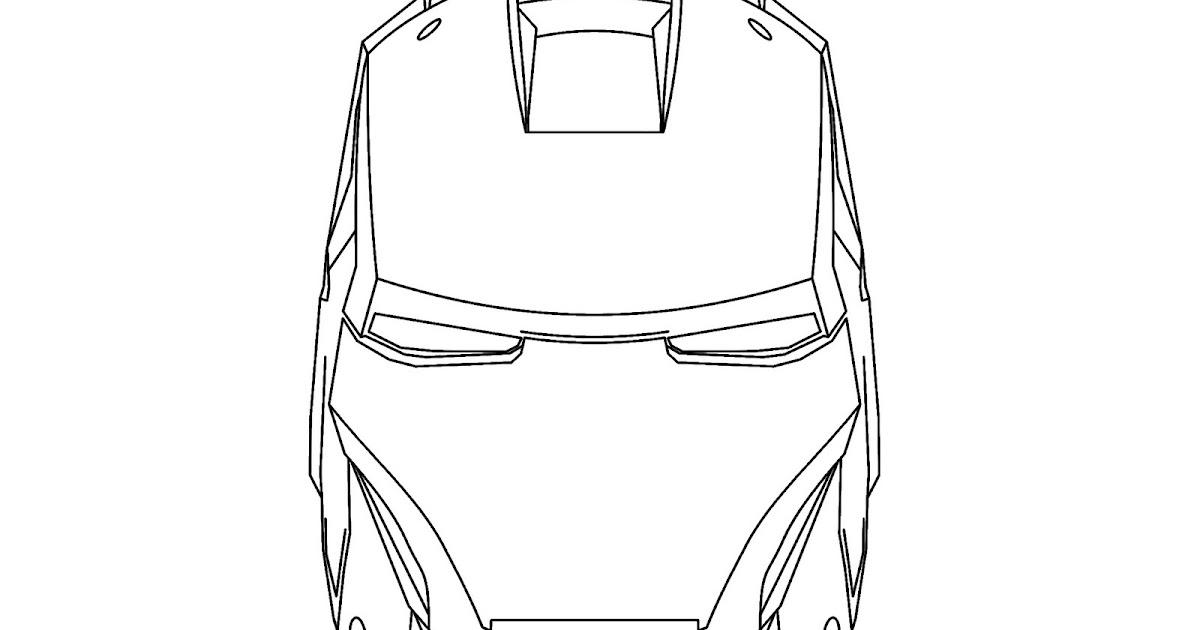 Iron man para colorear y pintar ~ 4 Dibujo