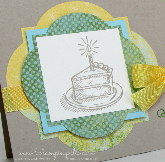 Birthday cake slice | Stampin' Up! Sketched Birthday Stamp Set