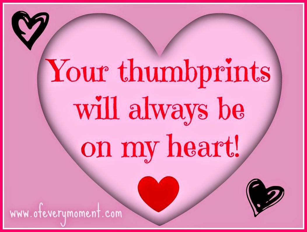 heart thumbprint saying