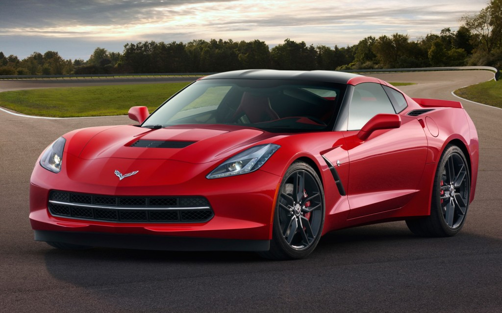 2014 chevrolet corvette stingray front side view in red. Cars Review. Best American Auto & Cars Review