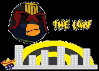 Judge Dredd Superheroes estilo Angry Birds