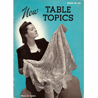 Vintage Crochet Tablecloth Pattern Book No 185