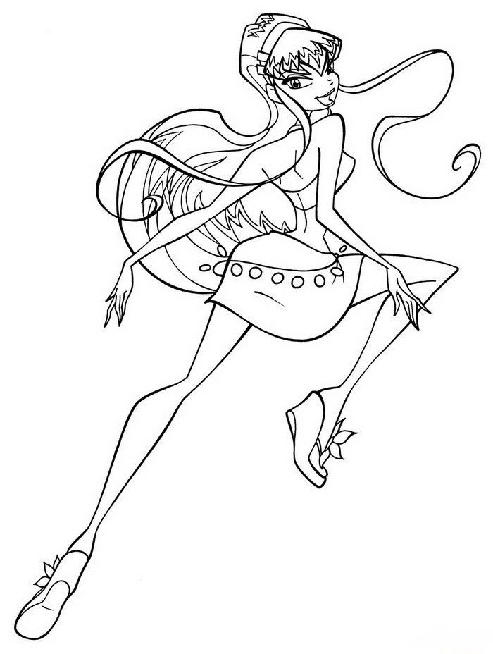 4 Seasons Colouring Sheets : Kids under 7: winx club coloring pages