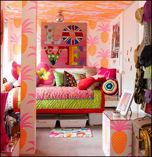 Decorating theme bedrooms maries manor groovy funky for Funky teenage girl bedroom ideas
