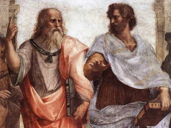 Platón y Aristóteles en la escuela de Atenas