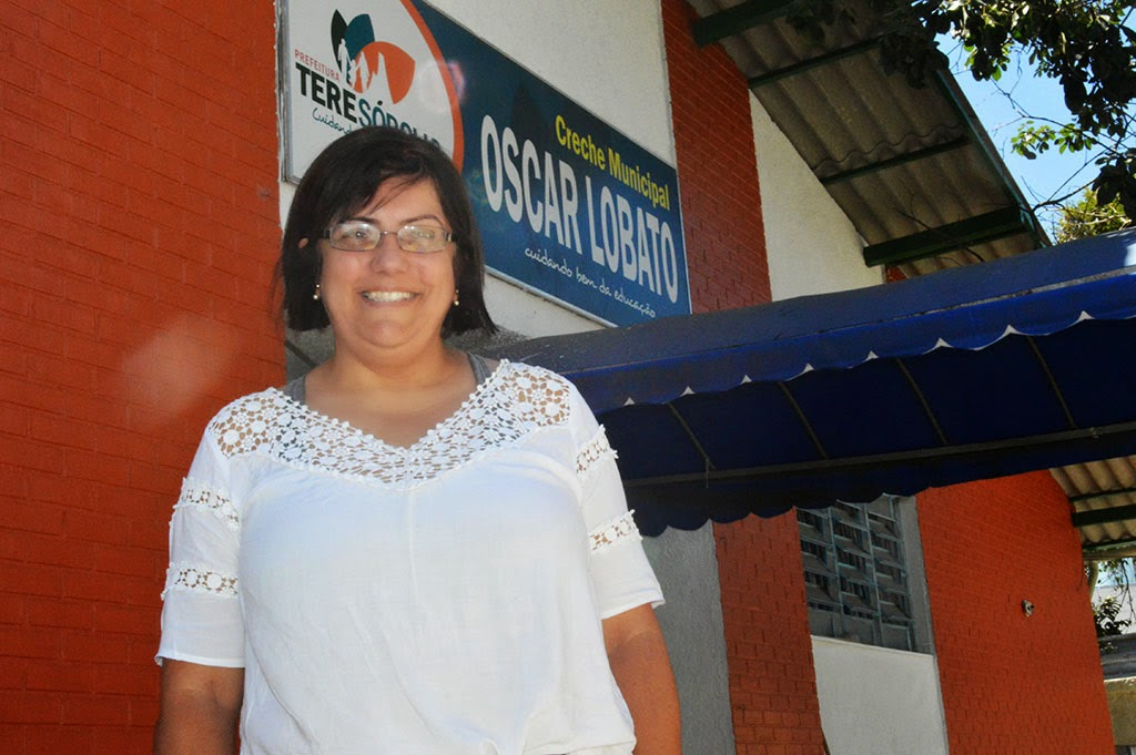 Ana Cláudia Ribeiro, diretora da Creche Oscar Lobato, pontua o apoio que recebe da Secretaria de Educação