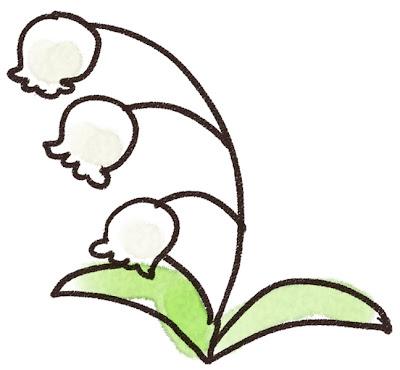 すずらんのイラスト(花)
