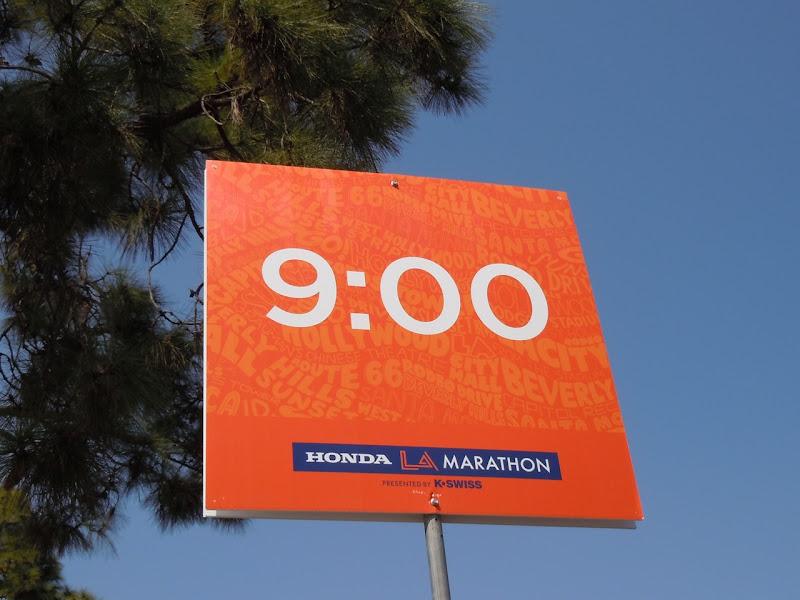LA Marathon 9 minute pace