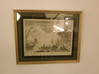 LE LORRAIN (1600-1682)-Un port animé-Eau forte originale avant la lettre