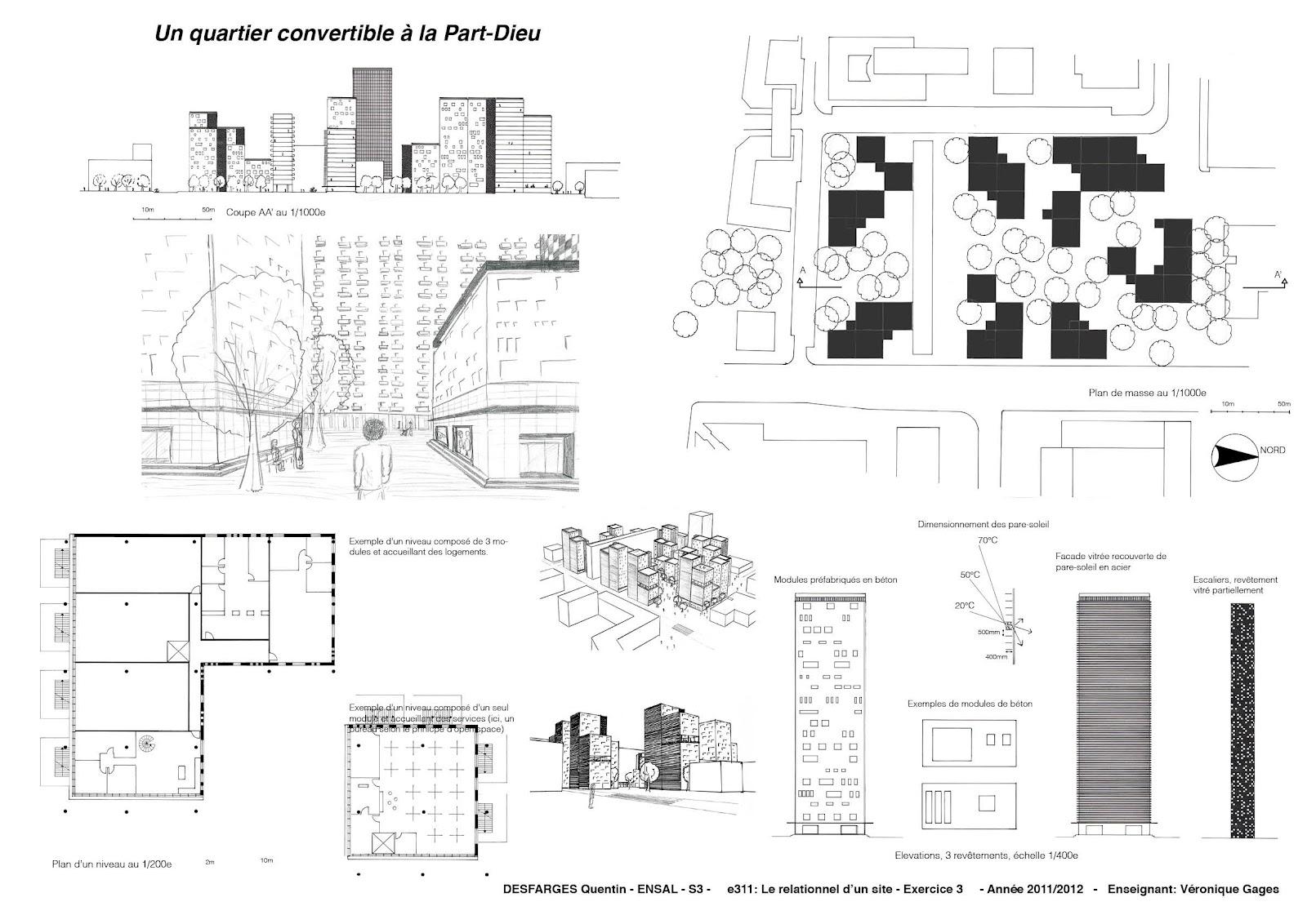 Quentin desfarges architecture exercice 3 esquisse d 39 un for Esquisse architecture
