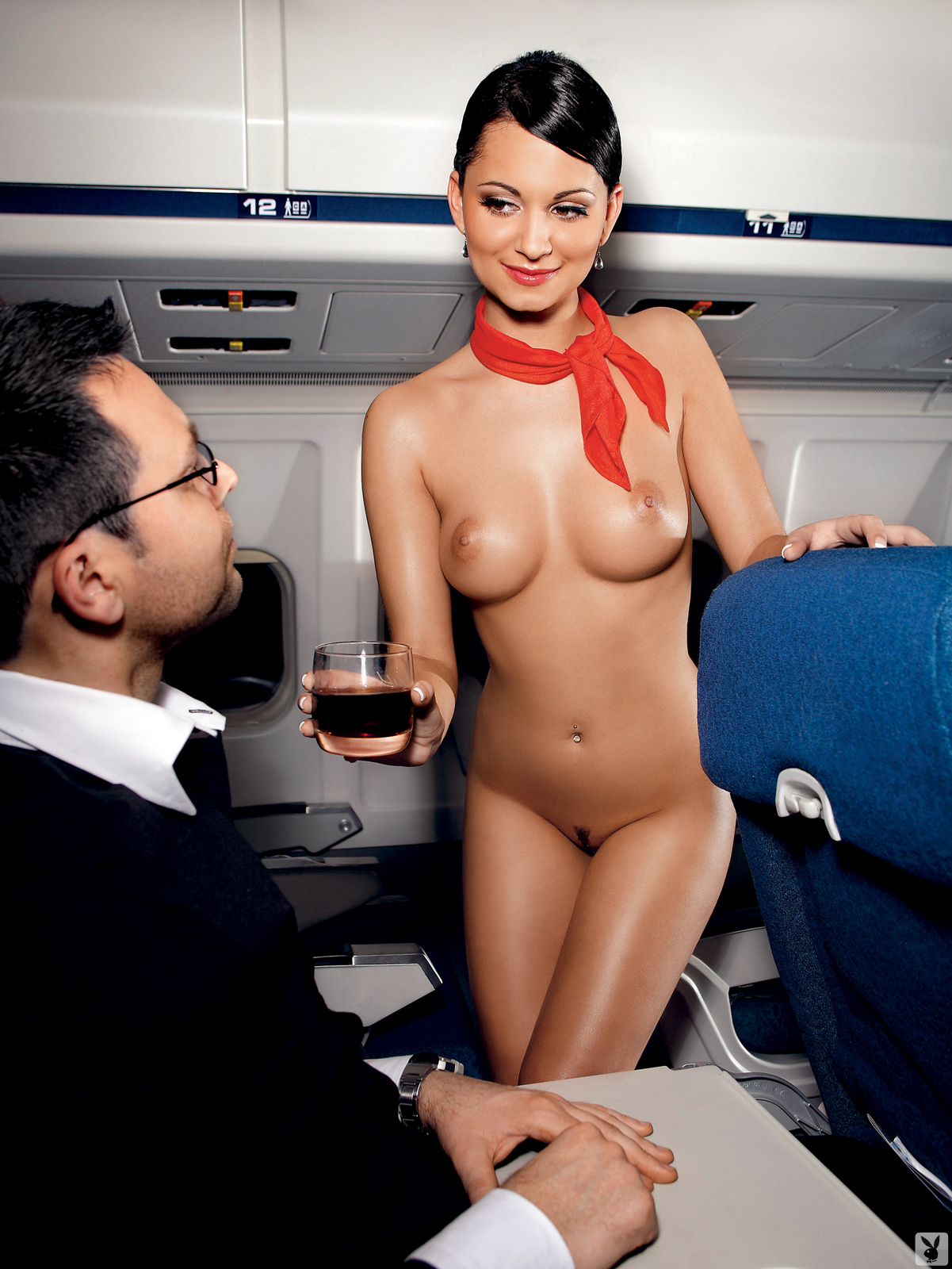 flight attendant naked uniform