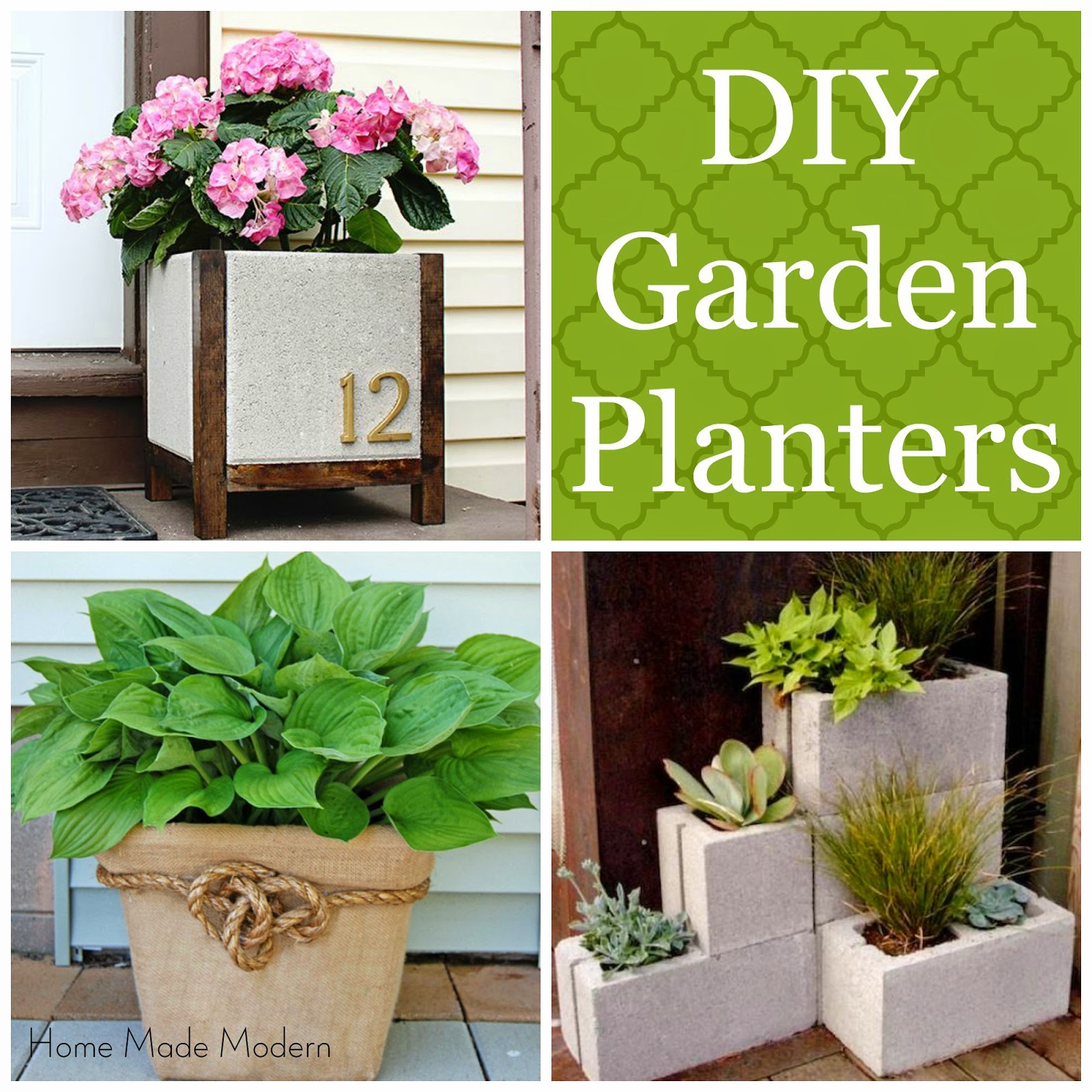 Home made modern unique garden planters you can make for Garden planters