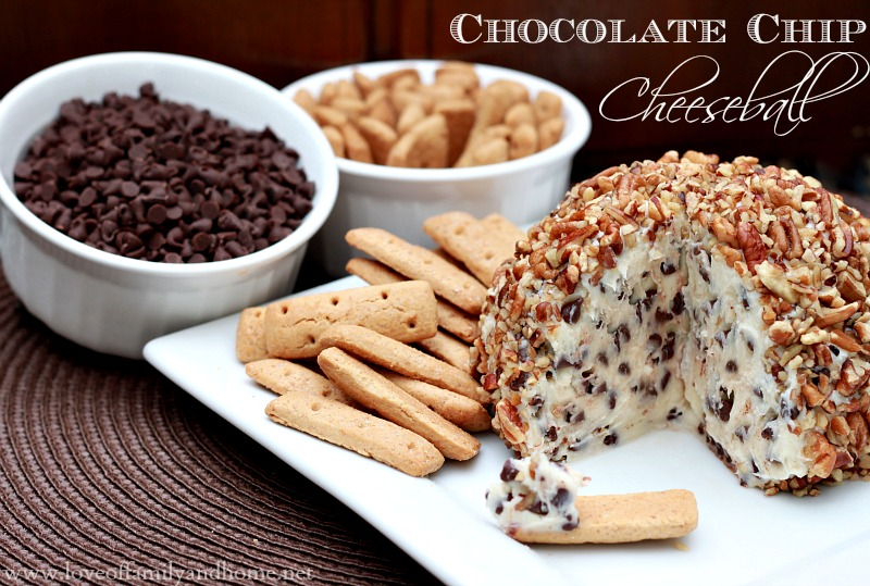 Chocolate Chip Cheeseball Recipe - Love of Family & Home