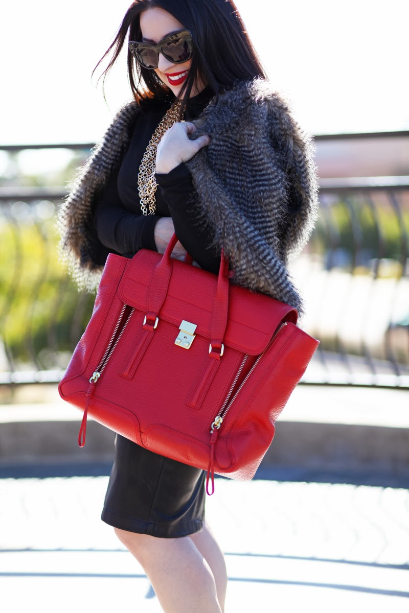 3.1-phillip-lim-red-pashli-faux-fur-house-of-harlow-sunglasses-leather-skirt-king-and-kind-blogger