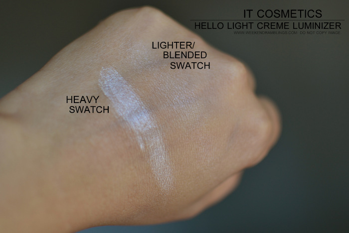 It Cosmetics Hello Light Anti-Aging Crème Radiance Illuminator Indian Darker Skin Beauty Makeup Blog Reviews Photos Swatches FOTD