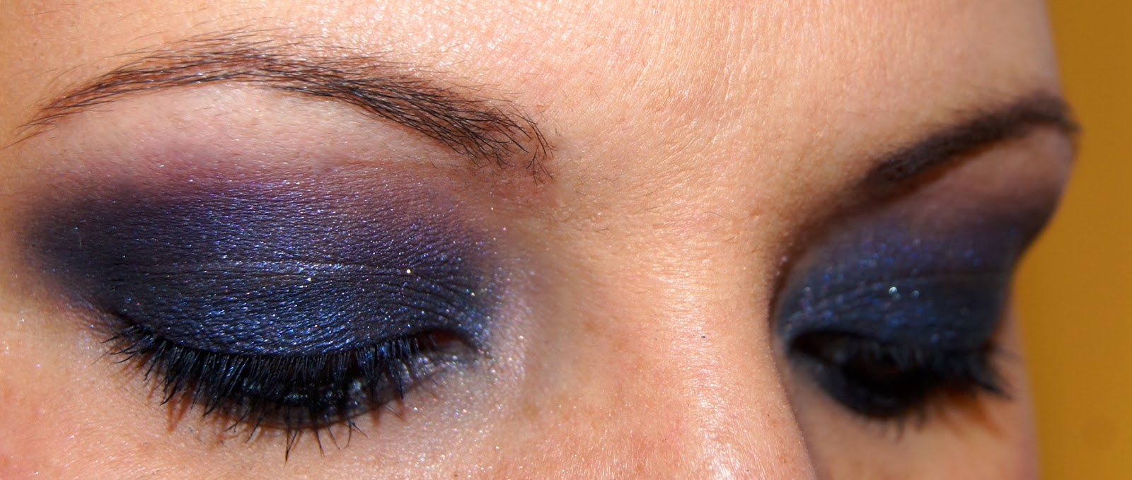Chou makeup maquillage du jour smoky eyes bleu violet - Maquillage smoky eyes ...