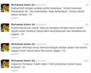 Twitter Azmin Ali