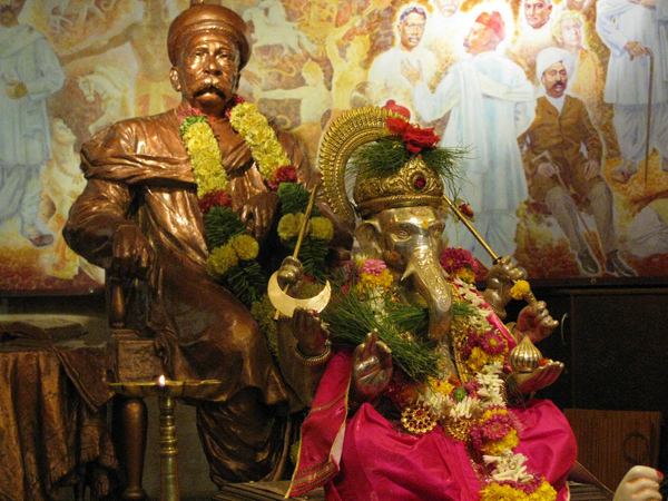Bal Gangadhar tilak who introduced Ganeshotsav, a community affair