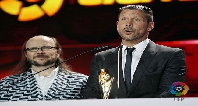 Diego Simeone fue elegido mejor entrenador de la Liga BBVA 2013/14