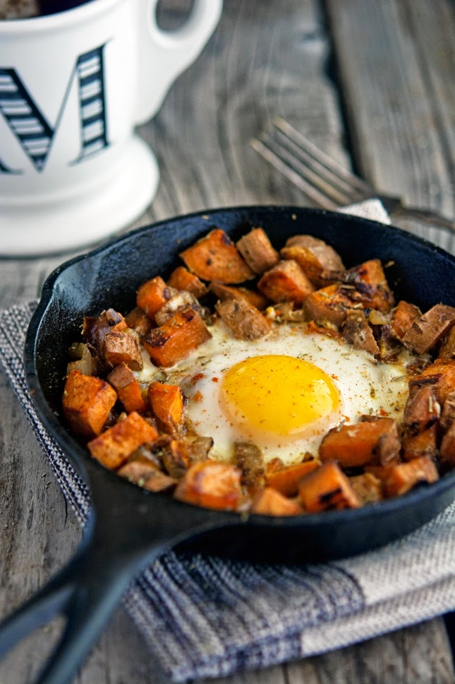 The iron you sweet potato and caramelized onion hash with baked eggs december 3 2014 forumfinder