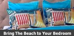 beach art bedding