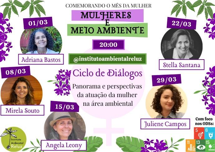 Ciclo de Diálogos: Mulher e Meio Ambiente.
