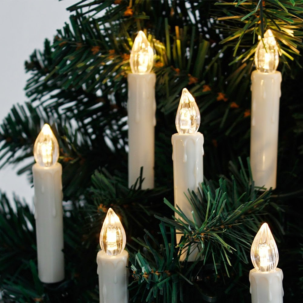 charming flameless candles for christmas tree part 4 christmas light - Candle Christmas Lights