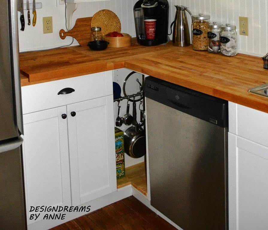 Designdreams by anne ikea hack custom kitchen cabinet for Tiny kitchen cabinets