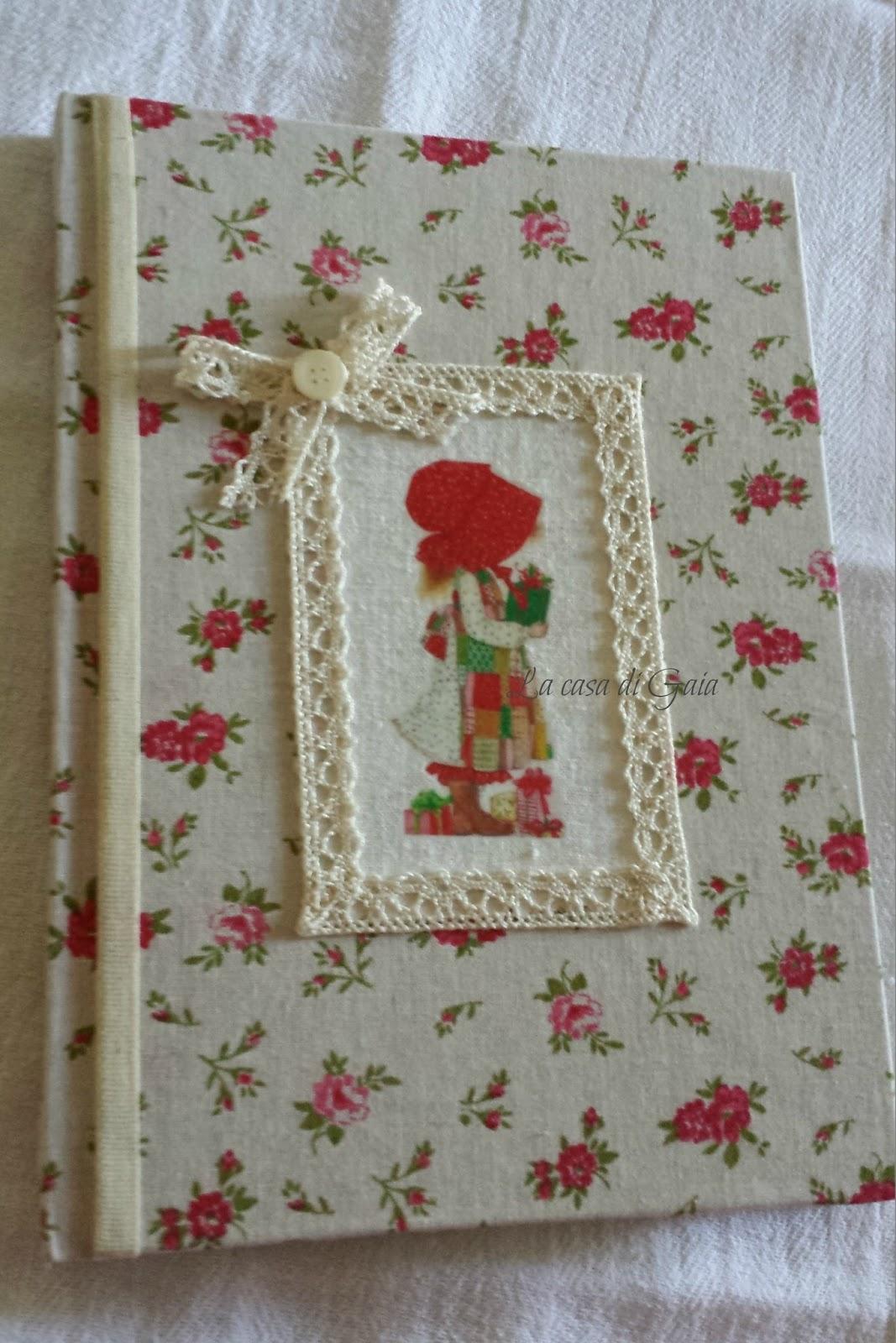 La casa di gaia creazioni natalizie vintage style for Porta quaderni