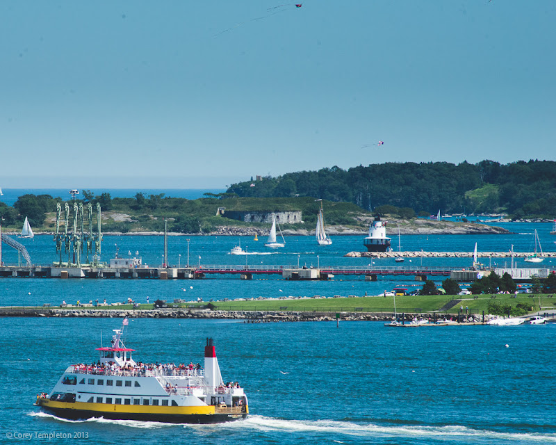 Casco Bay and Ferry in Portland, Maine. July 2013. Photo by Corey Templeton.