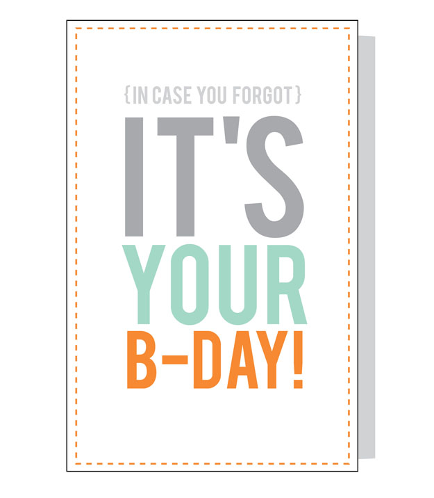 birthday card printable free