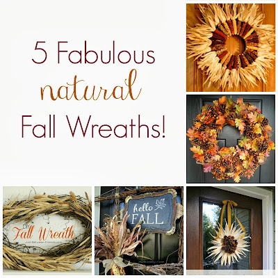 5 Fabulous Natural Fall Wreaths from It's Always Ruetten
