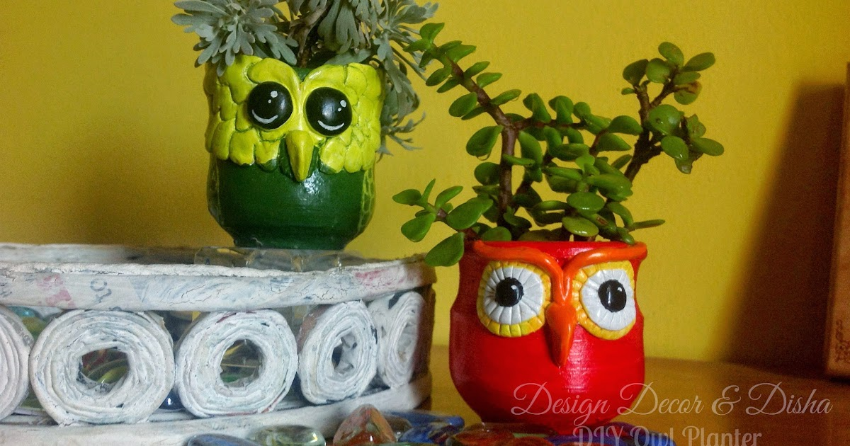 Design Decor Disha DIY Owl Planter