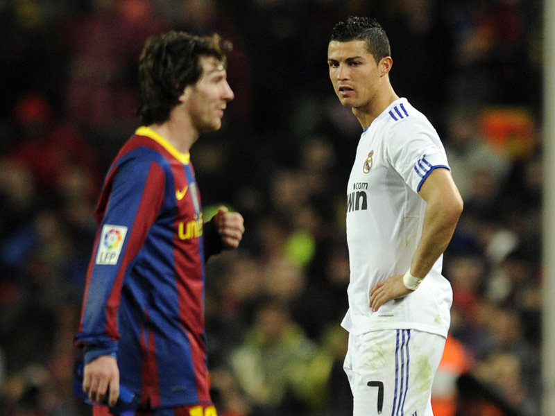 Cristiano Ronaldo Portuguese Real Madrid Footballer Vs Lionel Messi