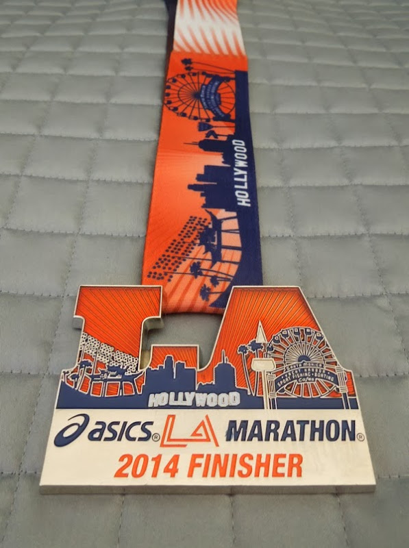 ASICS LA Marathon 2014 finisher medal