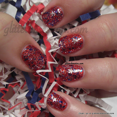 W27: 4th of July Mani
