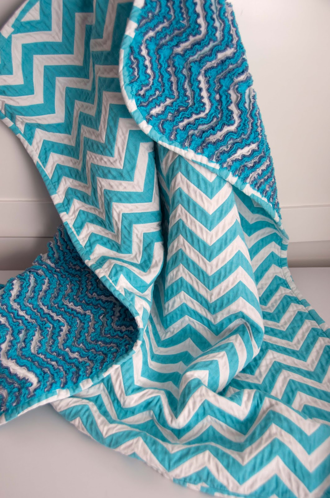 how to make a chevron blanket