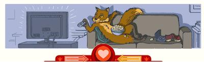 Google Doodle fox Valentine