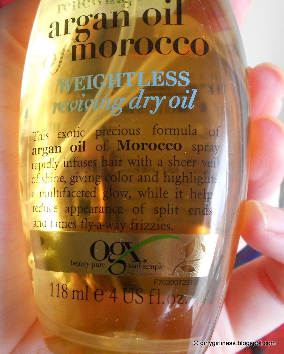 organix suho ulje u spreju morokansko arganovo ulje moroccan argan oil