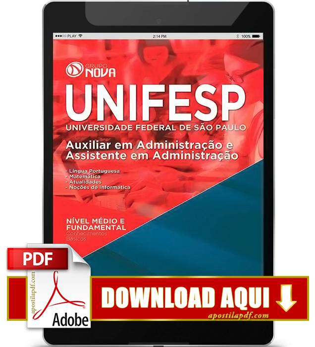 Apostila UNIFESP Assistente em Administração PDF Download