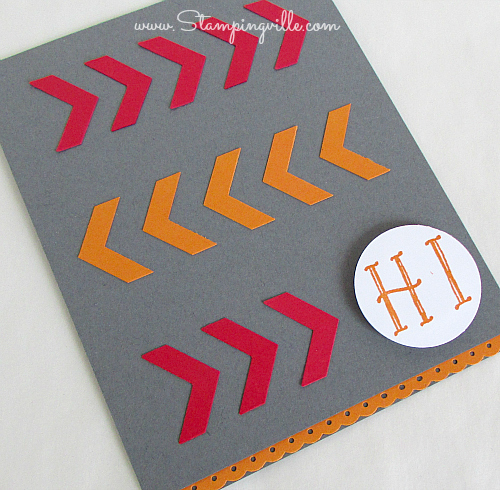 Stampin' Up! Chevron Border Punch All Occasion Card
