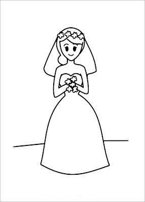 Bride Coloring Pages