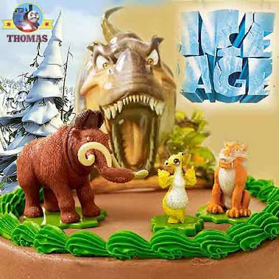 Ice Age 3 Dawn of the Dinosaurs toy figures childrens Birthday Cake design and topper decorations