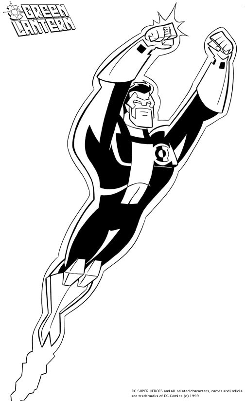 Green Lantern Coloring Pages Free Printable Coloring Green Lantern Coloring Page